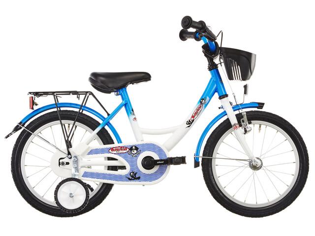 """Vermont Kapitän 16"""" Børnecykel blå/hvid"""